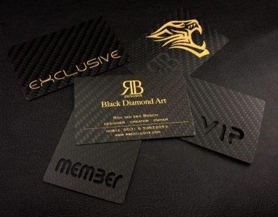 Luxe Carbon Business kaartjes