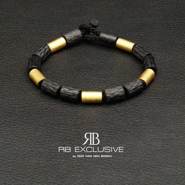 Carbon Goud armband GOLD collectie G4 – RB EXCLUSIVE handgemaakte carbon sieraden en accessoires van Nederlandse bodem