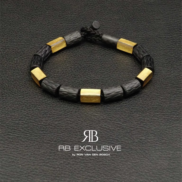 Carbon Goud armband GOLD collectie G6 by RB EXCLUSIVE