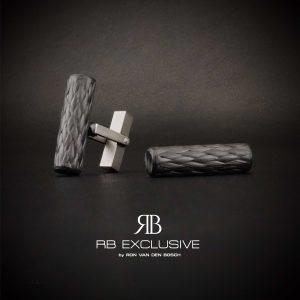 Carbon Titanium Manchetknopen Stile by RB EXCLUSIVE