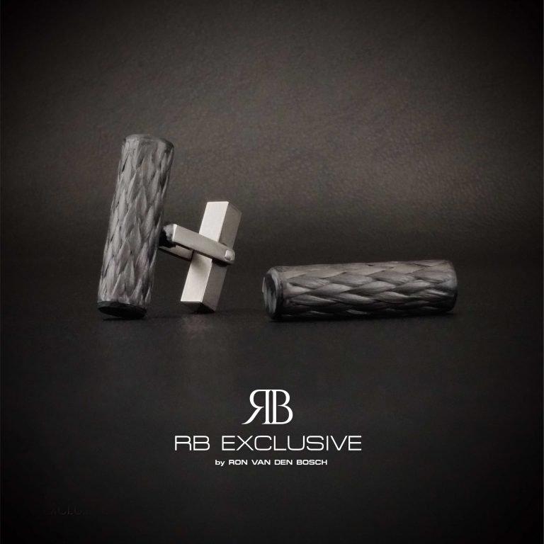 Carbon Titanium Manchetknopen Stile by RB EXCLUSIVE