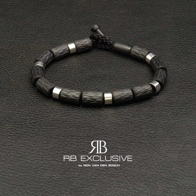 Carbon-Zilver-Armband-Napels