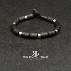 Carbon Zilver Armband Napels