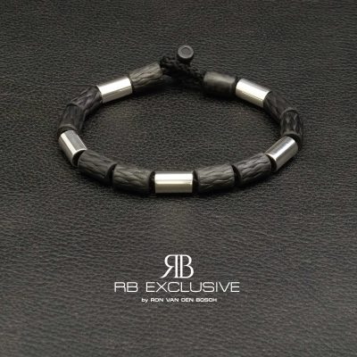Carbon Zilver Armband Rome