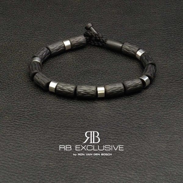 Carbon Zilver armband Style collectie 2 – RB EXCLUSIVE handgemaakte carbon sieraden en accessoires van Nederlandse bodem