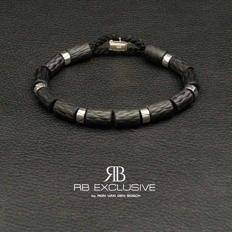 Carbon Zilver Armband Brennero