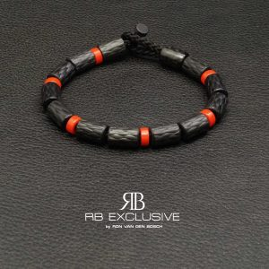 Carbon armband model Rosso by RB EXCLUSIVE