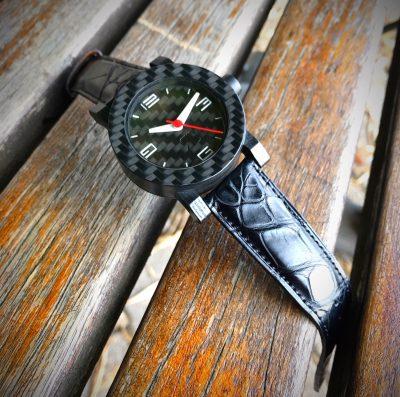 Carbon horloge met zwitsers automatisch uurwerk by RB EXCLUSIVE