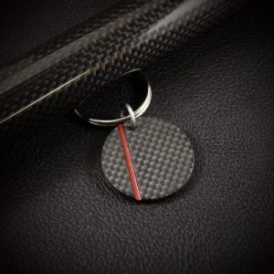 Carbon sleutelhanger Rosso by RB EXCLUSIVE