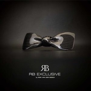Carbon vlinderdas-Bow Tie-VIP by RB EXCLUSIVE