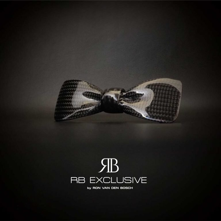 Carbon vlinderdas-Bow Tie-VIP by RB EXCLUSIVE
