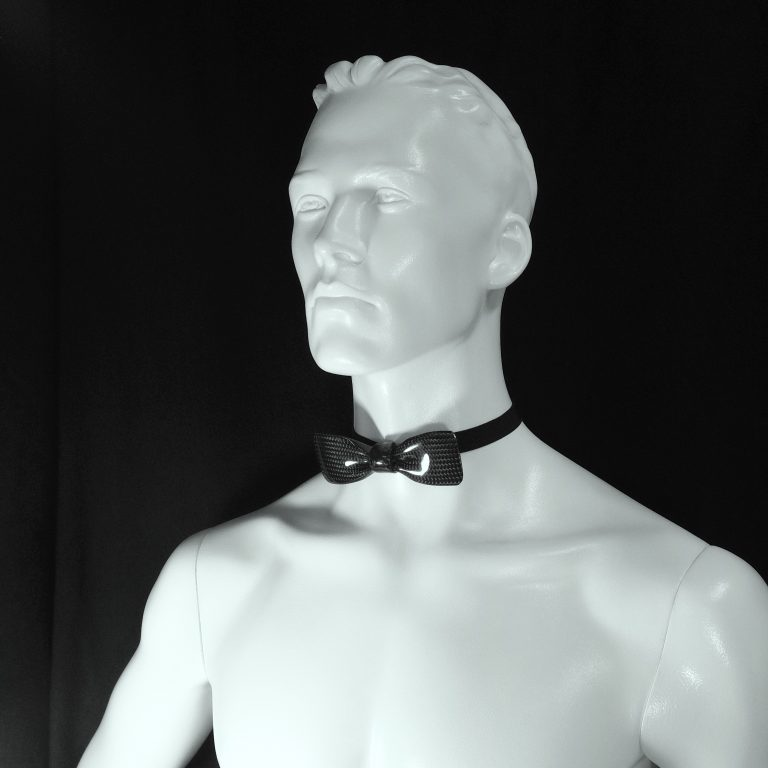 Carbon vlinderdas-Bow Tie-VIP op torso by RB EXCLUSIVE