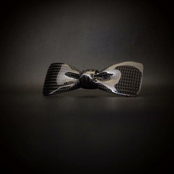 Carbon vlinderdas - Bow Tie glanzend by RB EXCLUSIVE