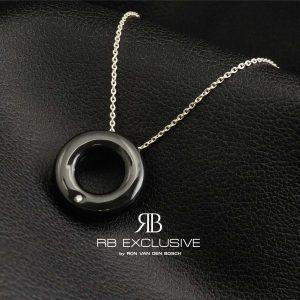 Diamant sieraad hanger model Cerchio met collier van zilver by RB EXCLUSIVE