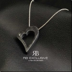Diamant sieraad hanger model Cuore Grande by RB EXCLUSIVE