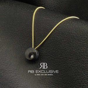 Diamant sieraad hanger model Dot met collier by RB EXCLUSIVE