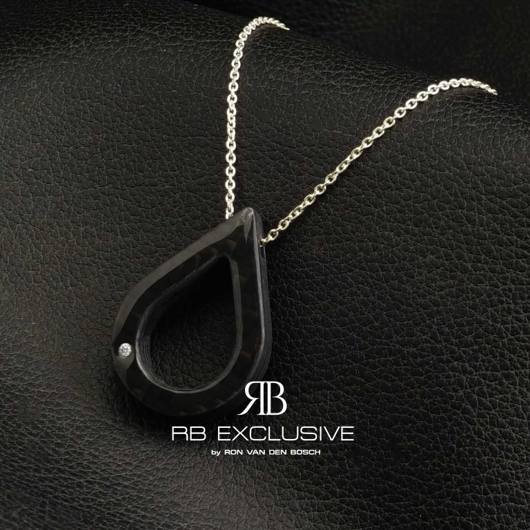 Diamant sieraad hanger model Goccia by RB EXCLUSIVE