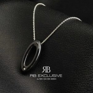 Diamant sieraad hanger model Salo met collier by RB EXCLUSIVE