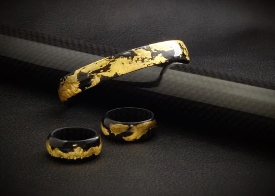 Carbon Armband en Ringen GOLD collectie by RB EXCLUSIVE