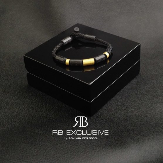 Carbon Goud Armband Donne Oro Due met luxe verpakking