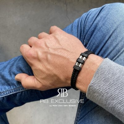 Carbon armband Acciaio Grande by RB EXCLUSIVE