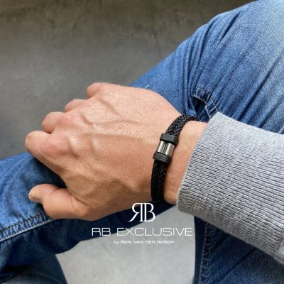 Carbon armband Acciaio Piccolo by RB EXCLUSIVE