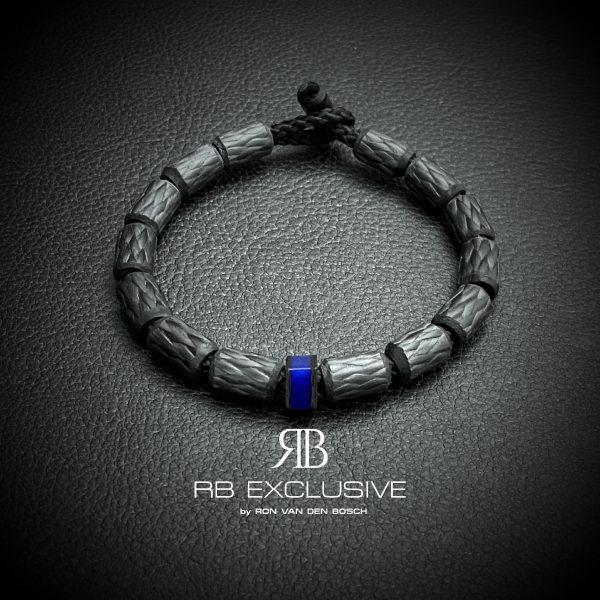 Carbon armband Bici Blue