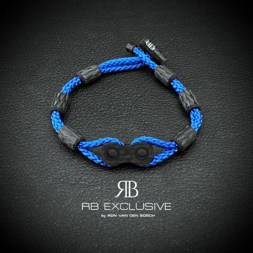 Carbon armband Catena Blu
