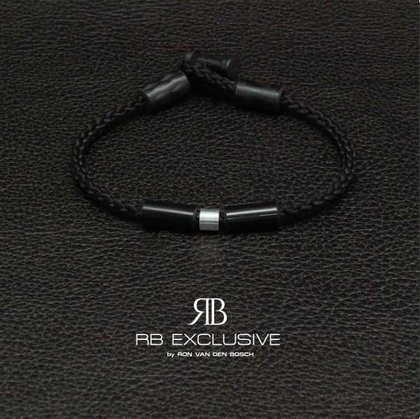 Carbon armband Donna Giro Argento by RB EXCLUSIVE