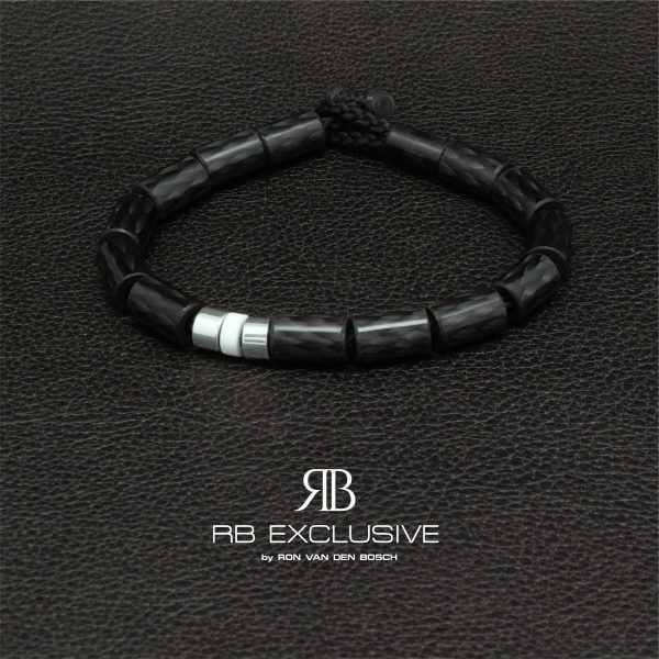 Carbon armband Giro Bianco by RB EXCLUSIVE