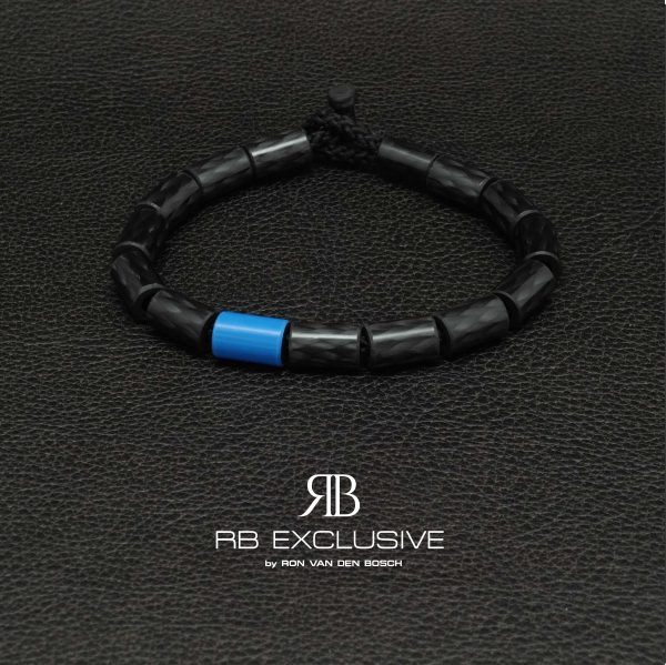 Carbon armband Giro Blue by RB EXCLUSIVE