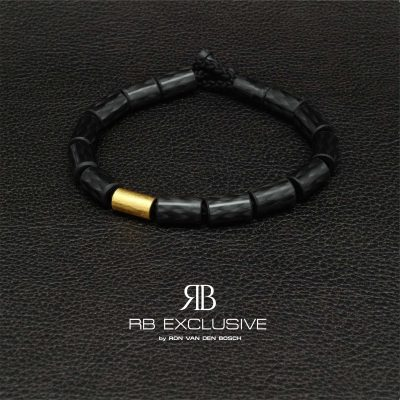 Carbon armband Giro Oro by RB EXCLUSIVE