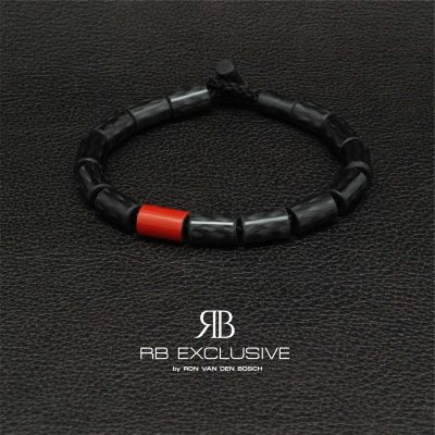 Carbon armband Giro Red by RB EXCLUSIVE