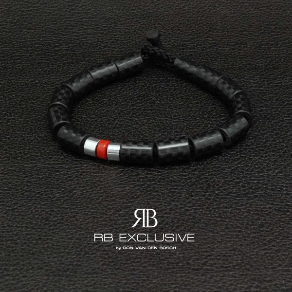 Carbon armband Giro Rosso by RB EXCLUSIVE