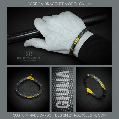 Carbon armband Giulia sfeer