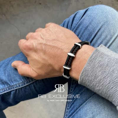 Carbon armband Monza Bianco by RB EXCLUSIVE