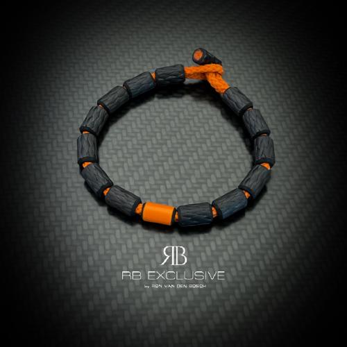 Carbon armband Oranje