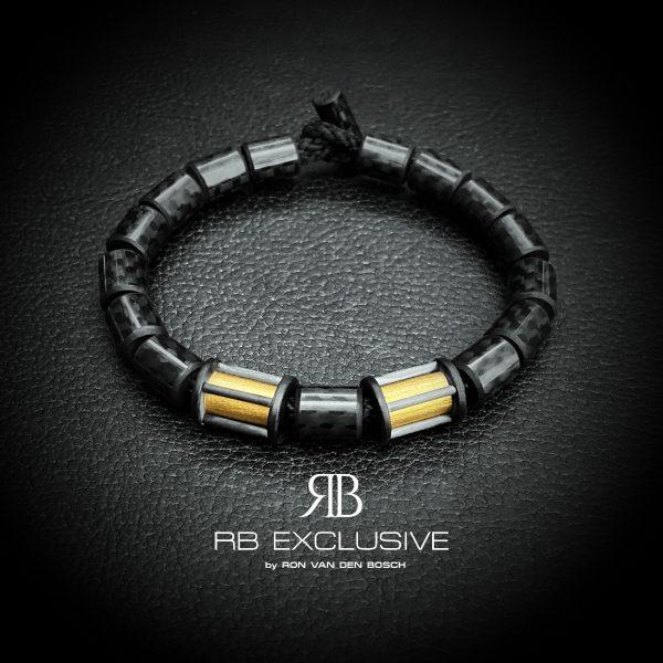 Carbon armband Oro Esclusivo