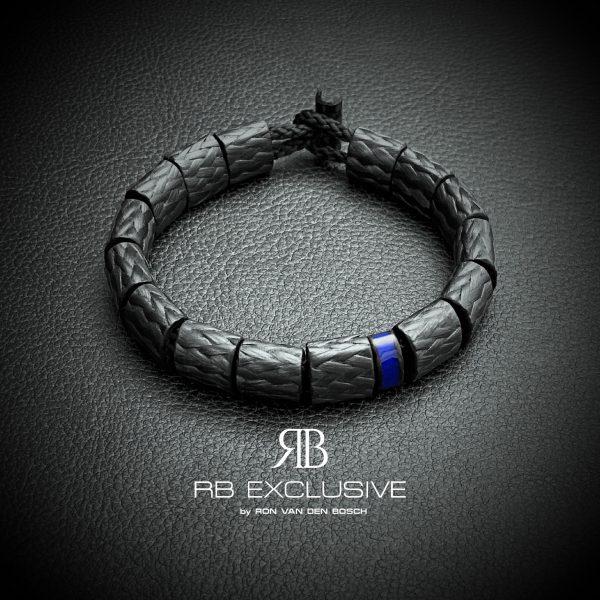 Carbon armband Ovale Blue