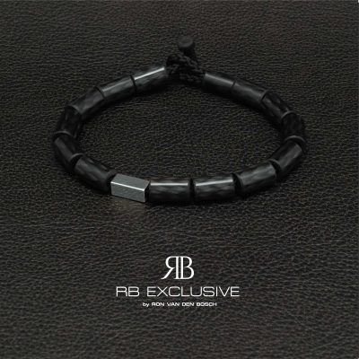 Carbon armband Quadrato by RB EXCLUSIVE