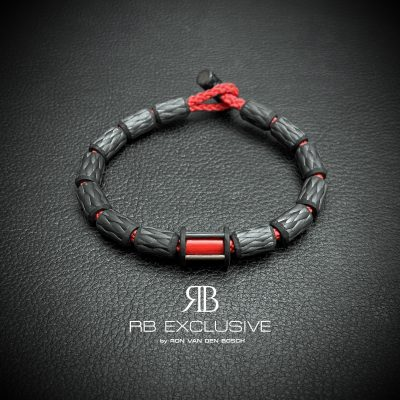 Carbon armband Siena Rosso