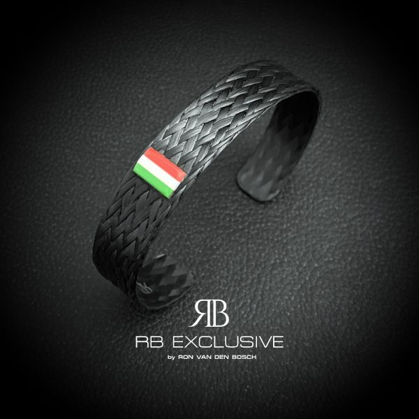 Carbon armband Tricolore Duro