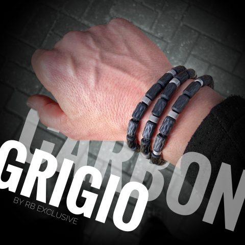 Carbon armbanden set Grigio