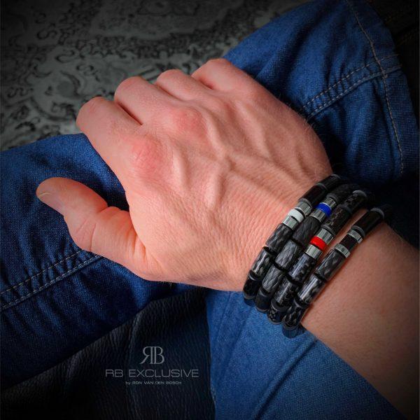 Carbon armbanden-sieraden