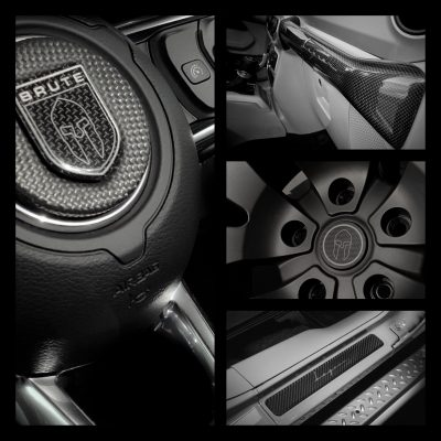 Carbon custom made styling parts voor BRUTE