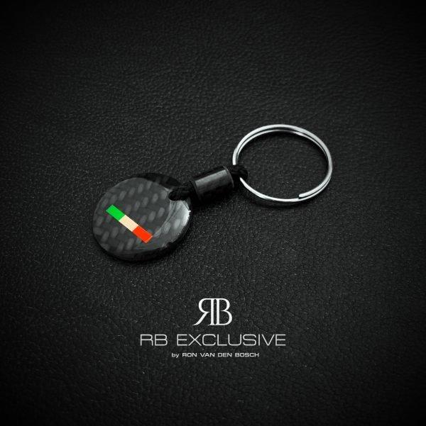 Carbon sleutelhanger Tricolore 24