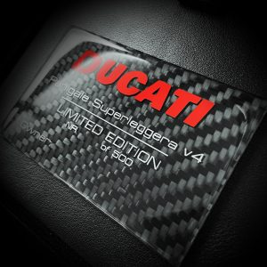 Ducati Limited Edition carbon info card