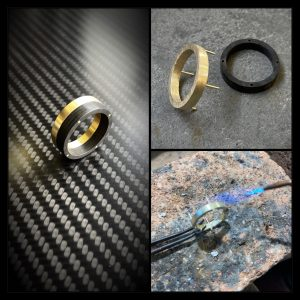 Goud Carbon ring by RB EXCLUSIVE