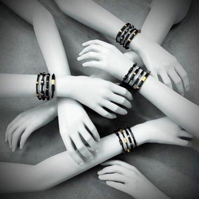 Nieuwe collectie armbanden carbon goud zilver