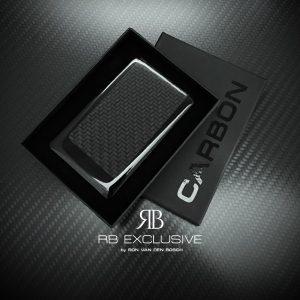 Private Carbon Businesscard Rettangolo Nero